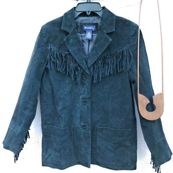 Denim&Co Jackets & Blazers - Denim & Co. Suede Jacket Fringe Black